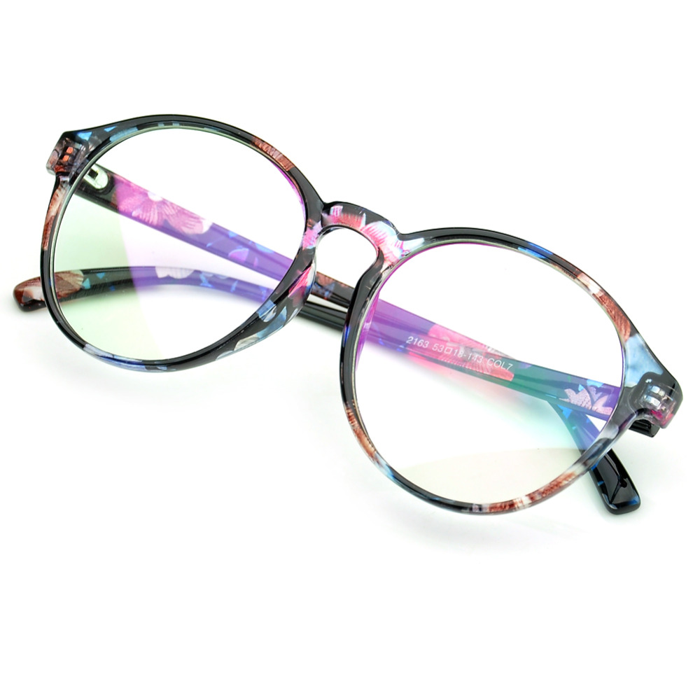 29120a8dca7 PenSee Oversized Circle Eyeglasses Frames Inspired Horned Rim Clear Lens  Glasses-in Eyewear Frames from Apparel Accessories on Aliexpress.com