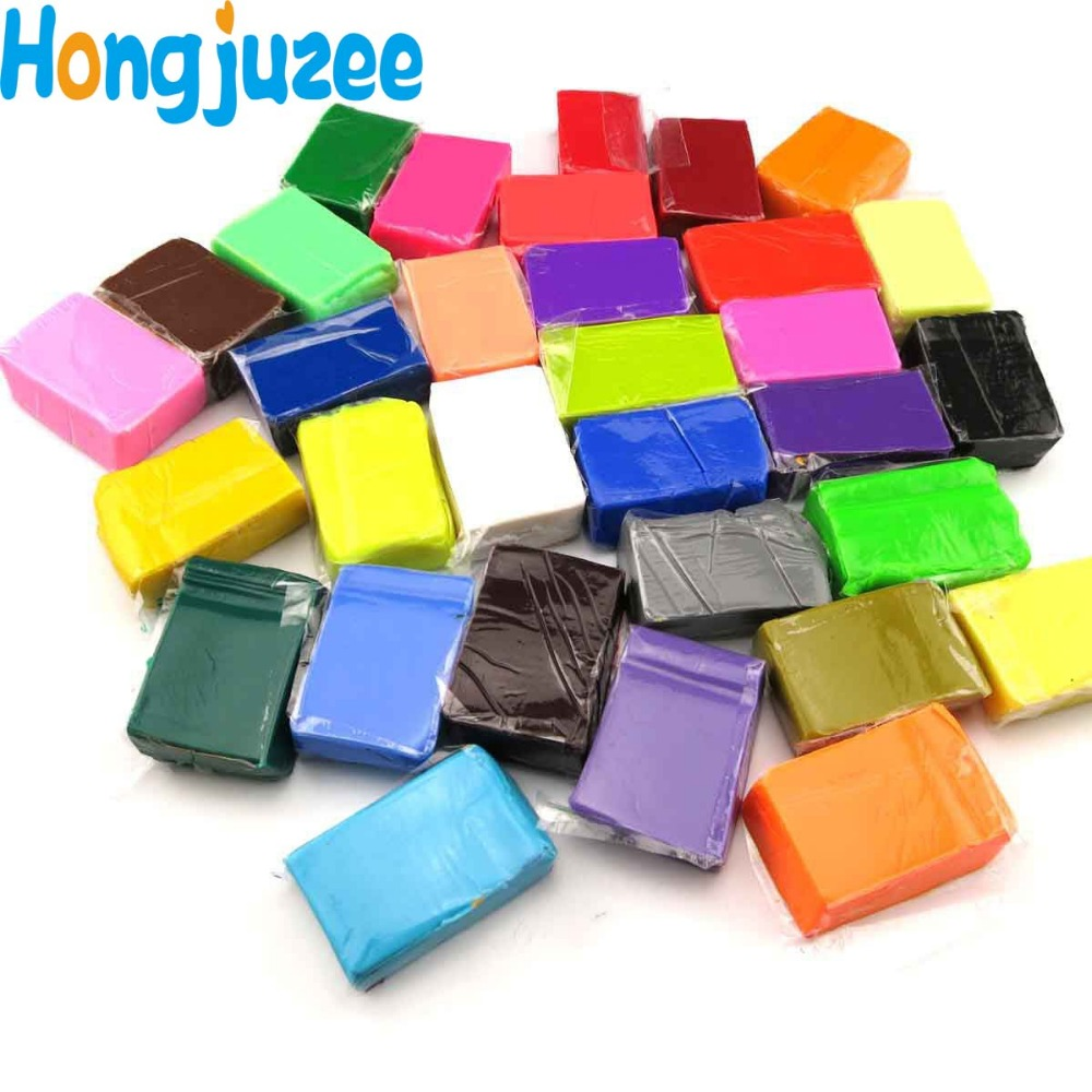 How to make clay toys use various shaping tools to - 32 Color Lot Oven Bake Polymer Clay Block Modelling Plasticine Kids Hand Making Diy Education
