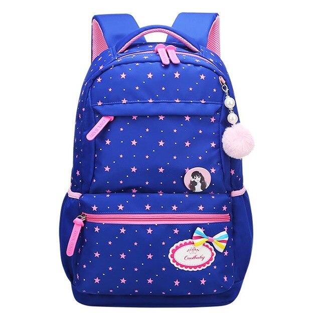 f7cd5fa320 New 2018 Star Print School Backpacks Children School Bag For Girls Kids Elementary  Middle School Bags