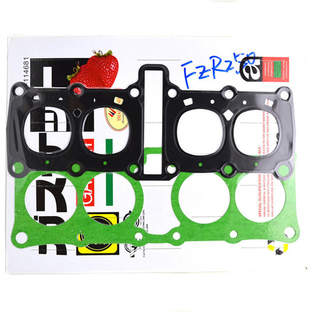 Motorcycle Engine Parts Head Cylinder gaskets Kit for Yamaha FZR250 FZR250R FZR250RR 3LN 1HX Stator Cover Gasket