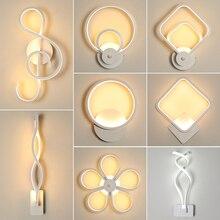 الحديثة نمط الجدار ضوء غرفة نوم وحدة إضاءة LED جداريّة أضواء غرفة المعيشة جدار الإضاءة مصابيح داخلية الدافئة الأبيض ضوء و الباردة الأبيض