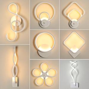 Image 1 - الحديثة نمط الجدار ضوء غرفة نوم وحدة إضاءة LED جداريّة أضواء غرفة المعيشة جدار الإضاءة مصابيح داخلية الدافئة الأبيض ضوء و الباردة الأبيض