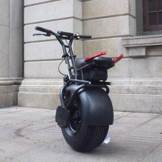 Gyroscooter 18 дюймов одно колесо Одноколесном Велосипеде Самостоятельная Баланс моно колесо самоката 1000 Вт Fat Tire
