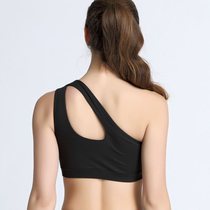 b5904d8a43f04 VEQKING Sexy One Shoulder Sports Bra Women Shockproof Breathable Fitness  Yoga Bras Gym Athletic Workout Running Padded Sport Top-in Sports Bras from  Sports ...