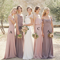 Simple Elegant Lavender Bridesmaid Dresses Long Blush Bridesmaid Dress Spaghetti Straps Satin Cheap Wedding Bridesmaid Gowns B5