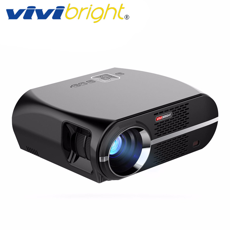 VIVIBRIGHT LED Projector GP100. 1280x800 Resolution 3200 Lumens Support 1080P, Home Theater Projector LED TV Cinema цена