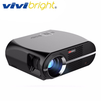 VIVIBRIGHT LED Projector GP100. 1280x800 Resolution 3200 Lumens Support 1080P, Home Theater Projector LED TV Cinema