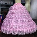 Fashion multi layers Pink lace ball gown petticoat Diameter Underwear Crinoline Wedding Accessory Underskirt For Wedding Gown