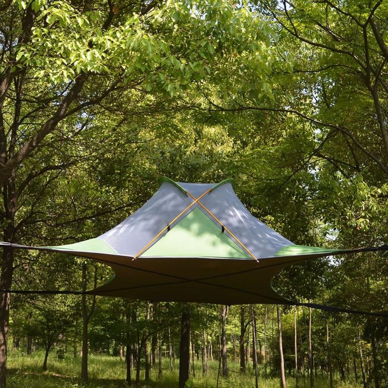 220*200 см Подвесной тент для дерева Сверхлегкий подвесной домик для дерева Кемпинг гамак Водонепроницаемый 4 сезон палатка для пешего туризма
