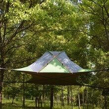 220*200 センチメートル中断木超軽量ぶら下げツリーハウスキャンプハンモック防水 4 シーズンテントハイキングバックパッキング
