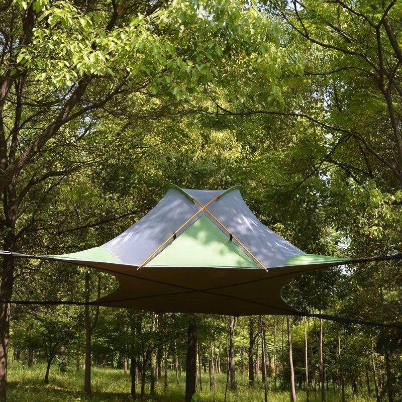 220*200cm árvore suspensa tenda ultraleve pendurado árvore casa acampamento rede à prova dwaterproof água 4 temporada tenda para caminhadas mochila