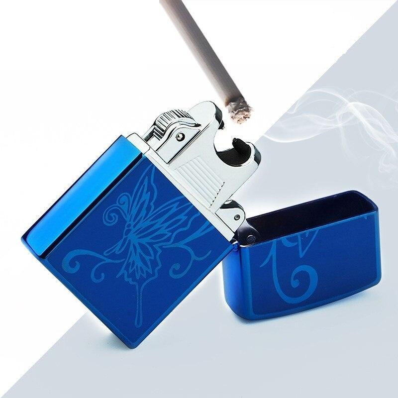Mode USB Électrique Léger Arc Métal Léger Sans Flamme Torche Rechargeable Coupe-Vent Plasma Briquet Aucun Gaz de Fumer Outils Cadeau