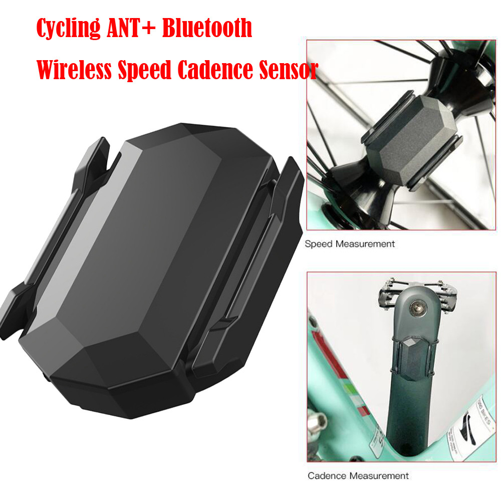 US $12 56 28% OFF|Cycling ANT+ Bluetooth Wireless Speed Cadence Sensor For  Garmin Bryton Bike GPS For iPhone X Samsung S9 S8 Phone Holder Stand-in