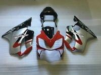 Nn Hot road fairings kit for Honda 2001 2002 2003 red silver black CBR 600 F4i 01 02 03 cbr 600 f4i body fairing set
