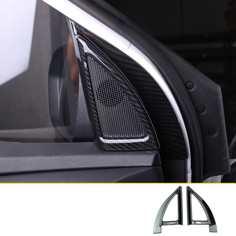 lsrtw2017 abs carbon fiber car a post sound trims for changan cs55 2017 2018 2019