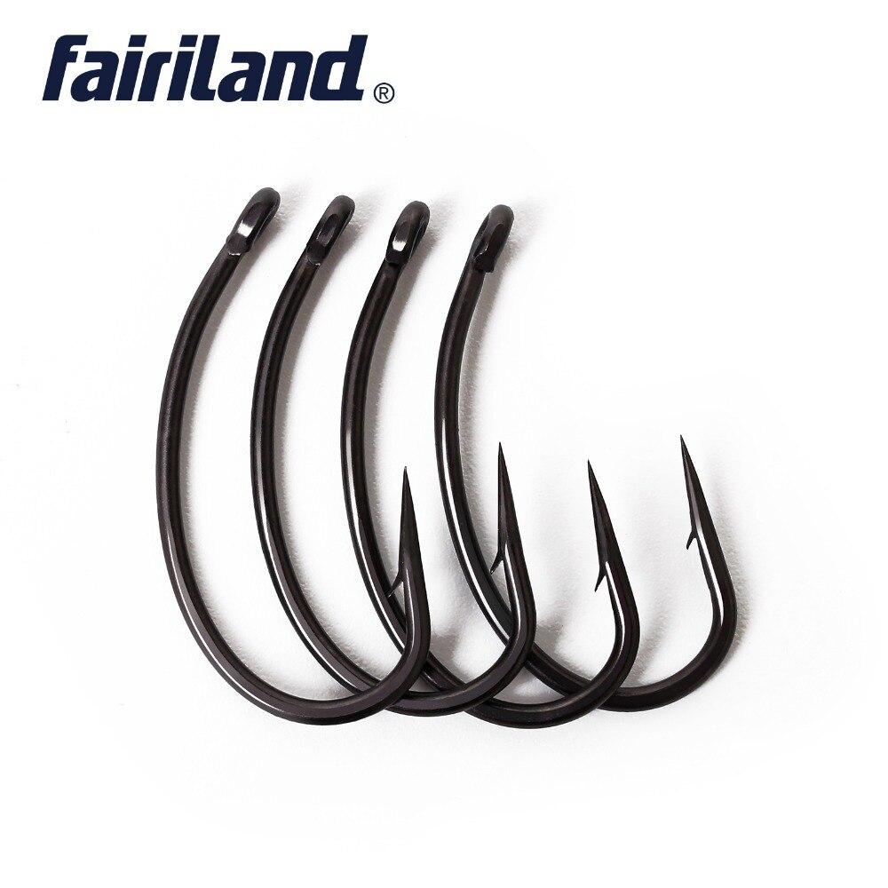 Longshank Micro Barb Teflon Curved Shank NGT Carp Fishing Hooks Wide Gape