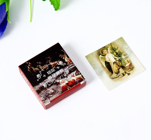 40 pcs/box Christmas Song Decorative Sticker Set Diary Album Label Stickers DIY Stationery Stickers Gift