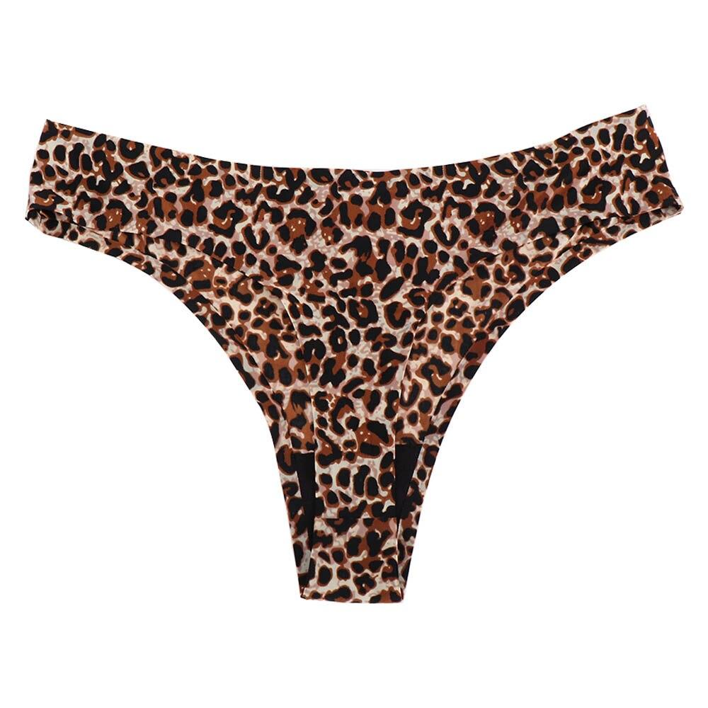 Hot Sale Leopard Women Sexy Seamless Underwear T Panties G String Briefs Calcinha Lingerie Tanga Thong