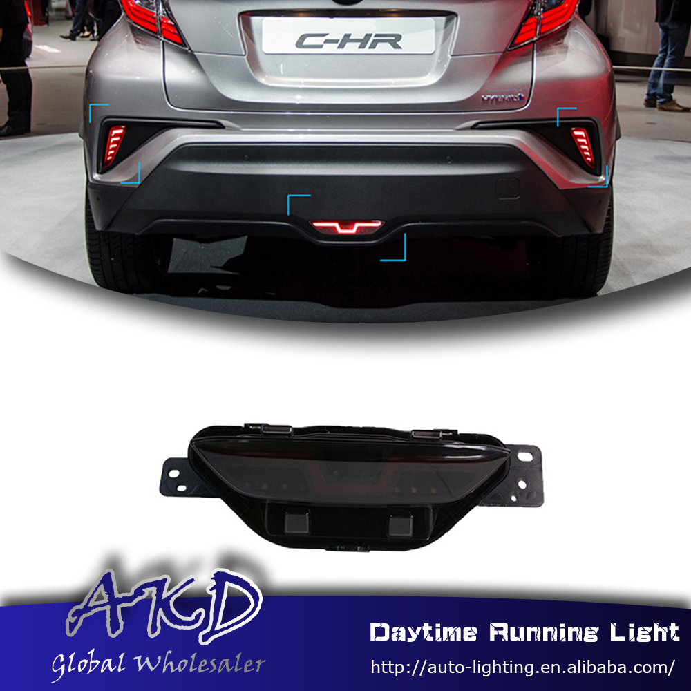 Reflector Bumper-Light CHR Brake-Lamp Rear Toyota for DRL Car-Styling