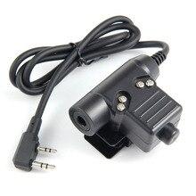 Z-TAC тактические наушники U94 гарнитура PTT военный радио для Kenwood 2 Pin Черный для baofeng почти все: Uv5r BF-480/490/320