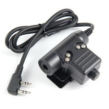 Z TAC taktyczne słuchawki U94 zestaw słuchawkowy PTT wojskowe Radio dla Kenwood 2 Pin czarny dla baofeng prawie wszystkie: Uv5r bf 480/490/320