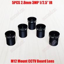 """5 개/몫 3MP 1/2. 5 """"IR 2.8mm 160 와이드 CCTV 고정 보드 렌즈 M12 MTV 마운트 아날로그 IP 카메라 모듈"""
