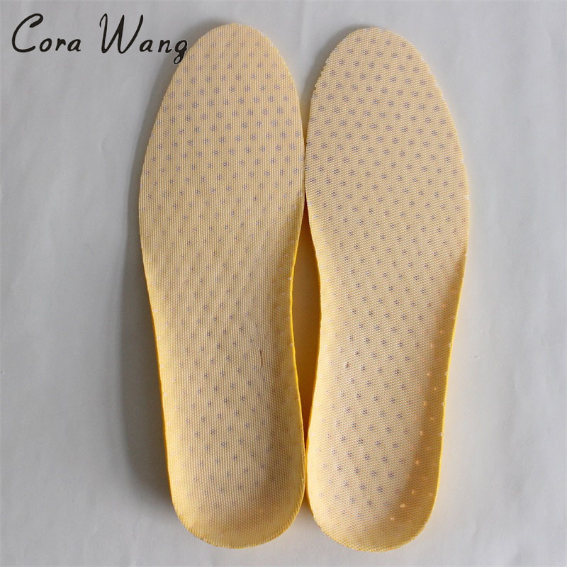 CORA WANG Sponge 1 Pair Shoes Pads Heel Cushion light weight breathable Insoles Foot Massager DD2ISA1013
