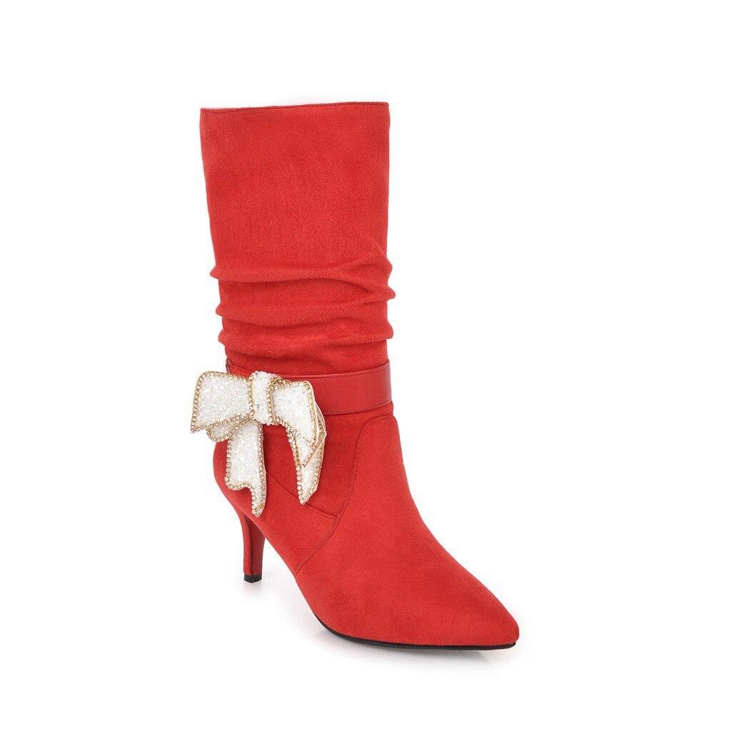 Yardas 43 Arco Alto Negro Zapatos Punta 181103 Tacón En 32 2018 De El Nuevo  Mujer rojo Moda Invierno P4RqWFw7F 2a84066aae7c