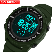 SYNOKE Men's Watches Luxury Brand Sport Dive 50m Digital LED Military Watch Men S Fashion Shock Electronics Wristwatches