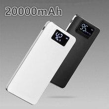 20000 мАч 100% Оригинальный Power Bank ультратонкий Внешний Аккумулятор светодиодные 2USB Для Универсального iPhone Samsung Смартфонов Tablet