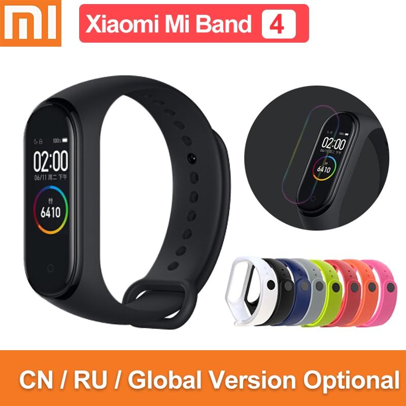 Versión Global original xiaomi mi band 4 pantalla de color 2019 última música pulsera inteligente ritmo cardíaco fitness 135mAh bluetooth 5,0