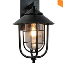 Lámpara Led Vintage montada en la pared, accesorio de iluminación de tocador de hierro forjado, decoración industrial Retro, candelabro de luz, porche, interior, exterior