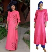H&D 2018 african clothes dashiki suits 3 three pieces set head wrap dress pant suit african women clothing bazin riche outfit
