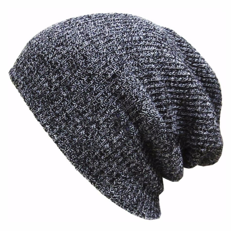 Winter Hats  For Women Men Warm  Casual Cotton  Hat Crochet Slouchy Knit Baggy Oversized Ski Beanie Hat Female Skullies Beanies winter casual cotton knit hats for women men baggy beanie hat crochet slouchy oversized ski cap warm skullies toucas gorros 448e