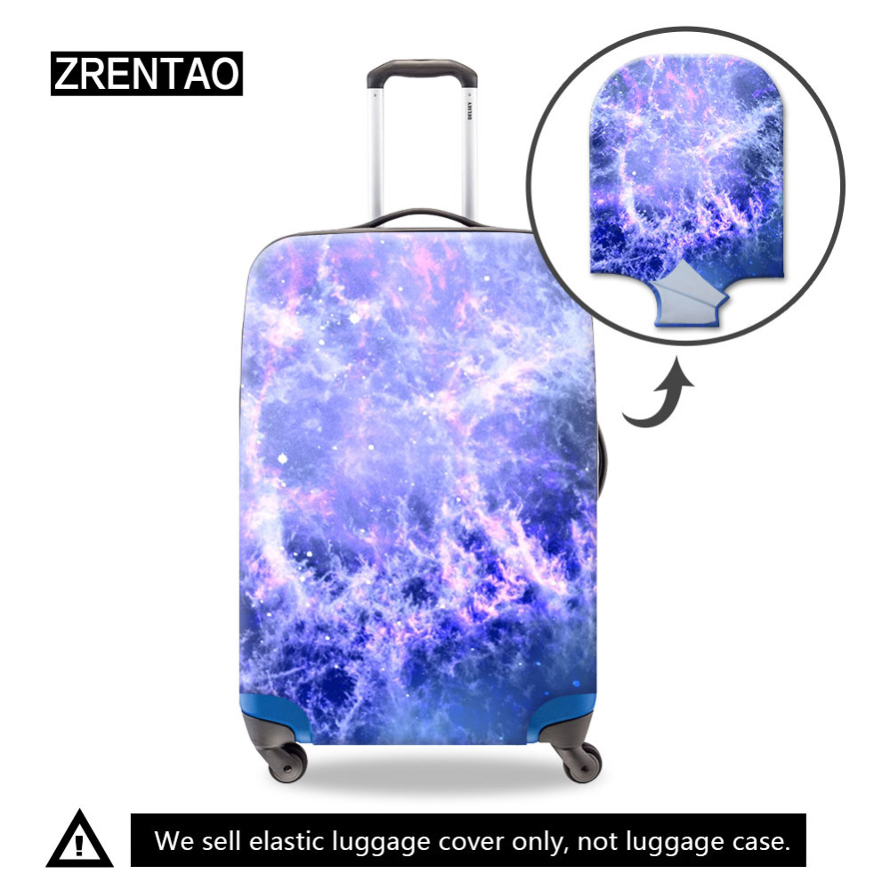 S/M/L Dust-Proof Travel Luggage Suitcase Protective Covers For Business Trip Holiday Elastic Luggage Bag Protector Galaxy Print