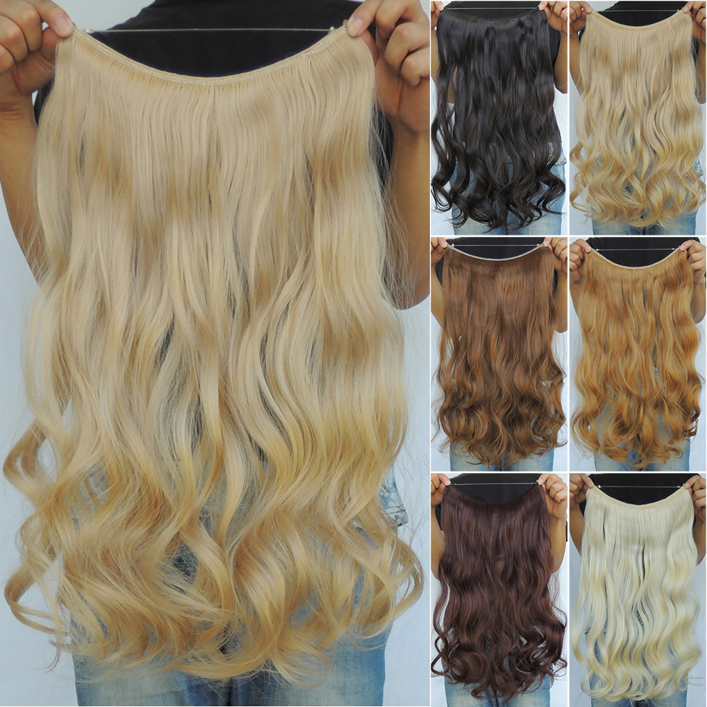 20 Inch Curly Mega Hair Extensions Pieces Synthetic Flip In Haar
