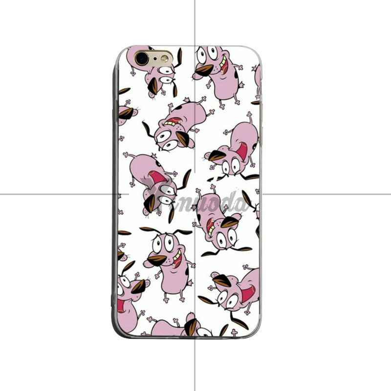 Funda de teléfono de alta calidad con diseño único Yinuoda corage the cowarly dog para iPhone X XS XR XsMax 8 plus 6 6 6 s 7 7 plus Mobilecover