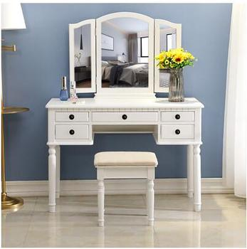 American dressing table dressing table modern contracted mini web celebrity dressing table bedroom small family multi-functional northern europe light luxury style dressing table bedroom modern simple dressing table small family european style dressing tabl