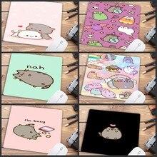 Mairuige تعزيز كبير لوحة الماوس لطيف القط صورة مكافحة زلة الكمبيوتر المحمول الفئران الوسادة حصيرة ماوس الليزر البصري 22X18CM