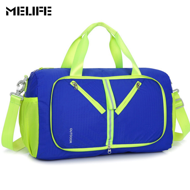 b288692c14 MELIFE Waterproof Gym Bag Foldable Sport bag Outdoor Men Women Large  Capacity Packable Yoga Duffle Sports Bags Travel Backpack