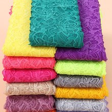 HL 1 Yard 8CM Width Lace With Elastic Wedding Dress Knitted Spandex DIY Clothing Underwear Sewing Accessories HB001