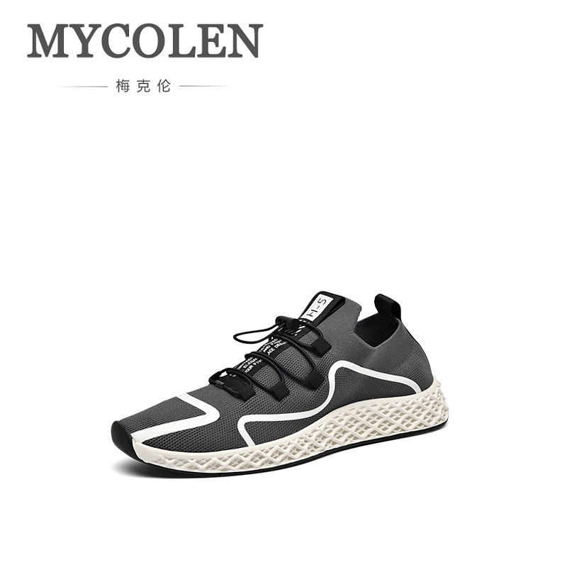 MYCOLEN The New Listing Men Shoes Brand New Fashion Mens Sneakers 2018 Breathable Elastic Band Casual Shoes Man Sepatu Pria mycolen 2018 new fashion mens oxfords vintage dress shoes luxury brand comfort office man shoes for party sepatu pria