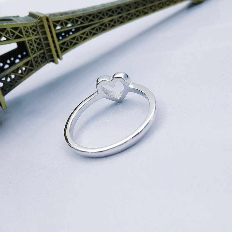 Modyle 2019 חדש אופנה עלה זהב צבע לב בצורת חתונה טבעת לאישה Dropshipping