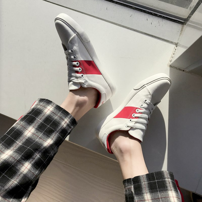 Nouveaux Toile rouge Chaussures Respirant Tendance Bleu Mode Hommes 2018 Plates Casual CZqdIgwInx