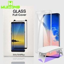 UV Volledige Lijm Screen Protector Voor Samsung S10e Plus S8 S9 Plus Note 9 Gehard Glas Volledige Cover UV Licht vloeibare HW Mate 30 Pro