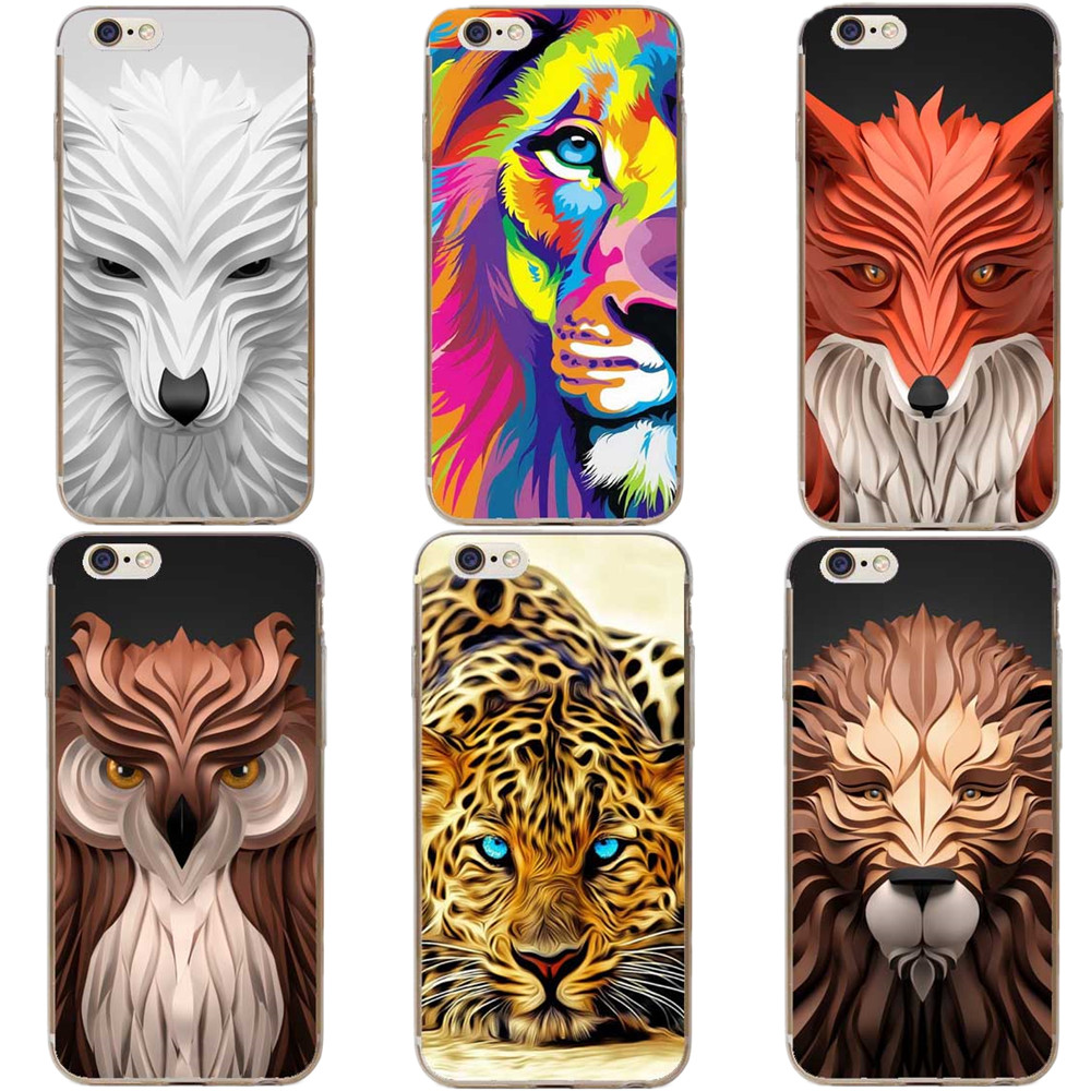 Luxury <font><b>3D</b></font> Relief Phone Case For <font><b>iphone</b></font> 5 <font><b>5S</b></font> SE 8 7 6 6S 7Plus X 10 Cover <font><b>Cartoon</b></font> Wolf Animal Pattern Hard PC Coque Capa <font><b>Fundas</b></font> image