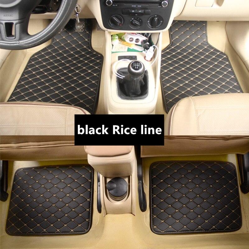 Universal car floor mat for VW Golf Jetta Bora MK4 Passat Beetle Skoda Octavia car mats