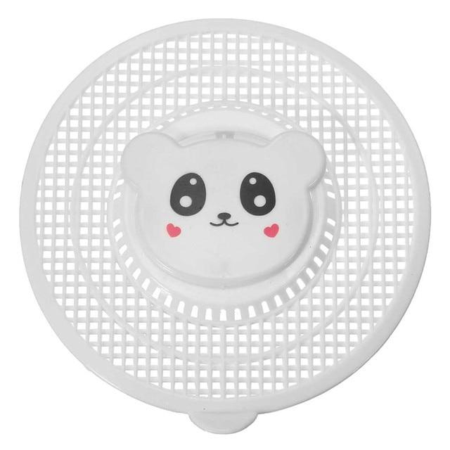 1 STÜCKE Cartoon Braun/Grün/Schwarz/Weiß Silikon Küche Waschbecken Sieb  Filter Runde