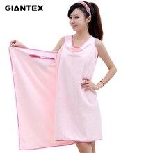 Giantex микрофибры пикантные женские полотенце носки пляжное полотенце Мягкая пляжная юбка с запахом суперабсорбирующих Ванна платье U0826