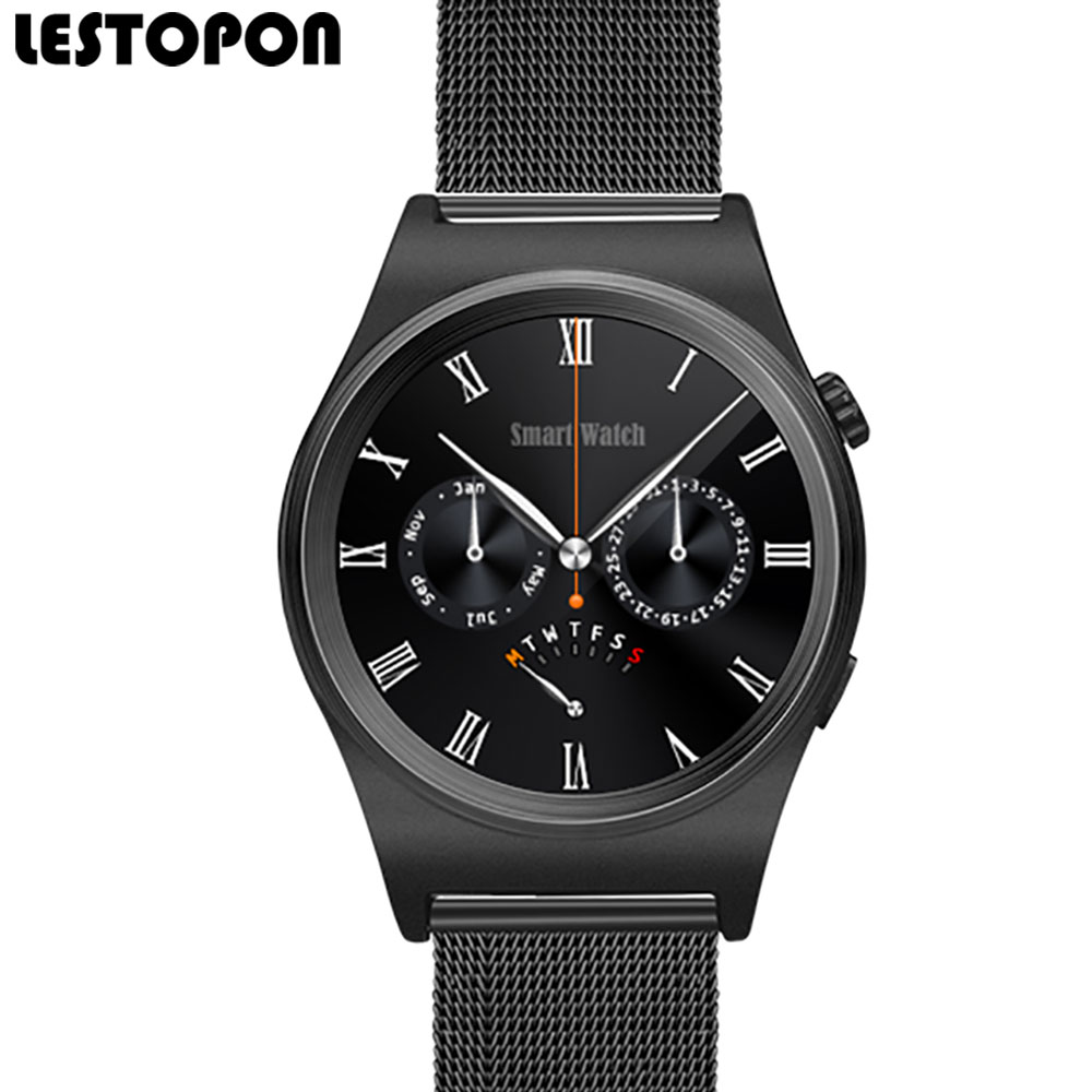 LESTOPON Smartwatch  Wearable Devices Clock 1.30 inch OGS Screen 128M+64M Bluetooth Smart Watch work for iPhone Android